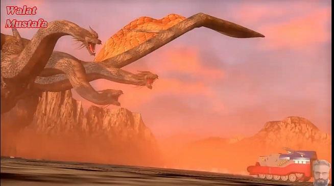 الاســـم:الرجل الحديدي ضد جيدورا .Izenborg vs King Ghidorah . 恐竜大戦争&#1.jpg المشاهدات: 271 الحجـــم:60.5 كيلوبايت